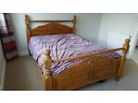 Pine king size bed frame only
