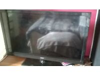 2 televisons 32inch and 42inch spares and repairs only non working