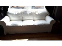 EKTORP three-seat sofa white