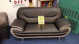 Amigo 2 Seater Sofa - Black / Grey