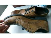 Brown Leather Brogues Size 8