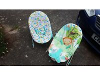 2 x baby bouncers, both in perfect condition