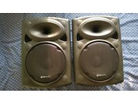 Pair of QTX Sound QR10 Passive ABS Speakers - As new