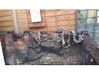 MAKE AN OFFER 5 Antique Ship Blocks Pulleys Inc Rope and Net