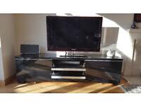 Ikea TV Stand in high gloss black