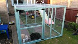 3ft x 6ft x 6ft high rabbit enclosure, hand made, brand new.