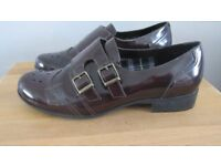 Hotter Size UK 6 Shearsby Patent Red/Black Leather Shoes
