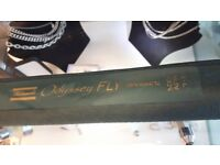 Shakespeare Odyssey Fly Rod 3m (9.8 foot) Like New + Free Bison Case