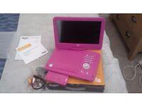 Bush pink portable dvd player