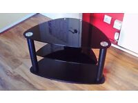 TV Stand (wood and tempered glass)