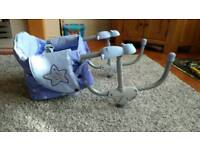 Chicco space saving high chair - attaches to the table - excellent
