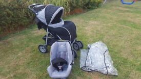 Britax ultra travel system buggy+car seat