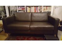 Two seat ikea leather sofa couch £100.00
