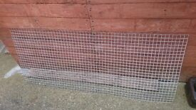 Small sheet of heavy wire mesh