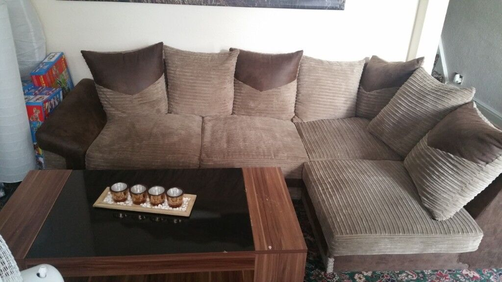 Lshape Corner Sofa Set With FREE Coffee Table In Heathrow London - Coffee table for l shaped sofa