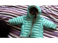 North Face unisex coat! 0-3months