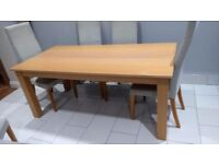 Next - Oak extendable dining table with 6 chairs
