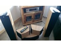 Denon AVR-1906 7.1 Channel Receiver plus 5 speakers KEF