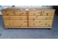 Ducal solid pine doubke chest of drawers