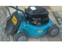 Petrol mower no grass box