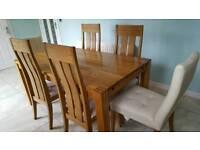 Soild oak dining table