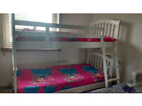 Bunk bed for kids wooden with mattress