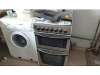 Indesit gas cooker stainless steel in good order also Candy washing machine in good order