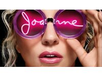LADY GAGA- JOANNE WORLD WIDE SHOW. Manchester Arena 6th February Block 104 Row A