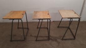 School desks 1970's