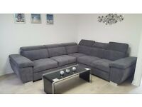 MONZA Italian Corner Sofa Bed Delivery 1-10 days Brand New Storage We can Delivered