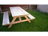 New sold wood garden bench large sits 8 people