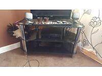 Black glass tv stand £20
