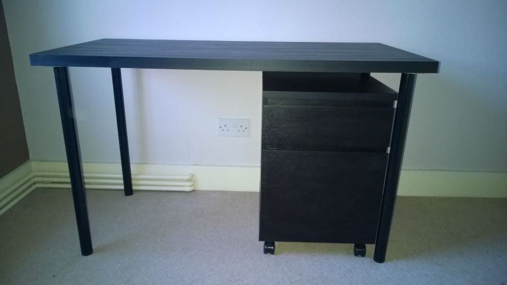 Ikea Linnmon Adils Black Computer Office Desk