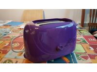 Wilko Colourplay 2 Slice Toaster Purple