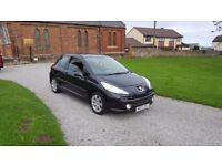 07 REG PEUGEOT 207 SPORT 1.6 AUTO BLACK 3DR 44K-MILES OUTSTANDING FREE-DELIVERY VERY CHEAP CAR L@@K