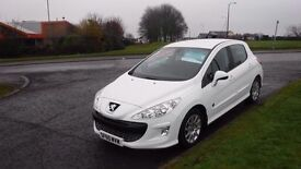 Peugeot 308 1.6HDiEnvy(60)plate,Alloys,Air Con,Full Service History,£30 Road Tax,Very Clean