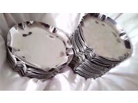 Stainless Steel Cigarette Holder Tray Silver Tone Ashtray
