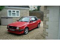 Absolutely superb classic red Ford Escort 1600i MK3 cabriolet 1983 low mileage