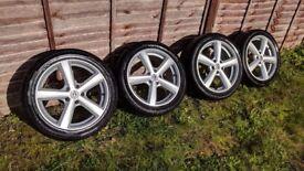 R17 5x110 Team Dynamics Cyclone alloy wheels with tyres 7jj Vauxhall zafira