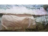 Mothercare cot bumper with blanket and sheet