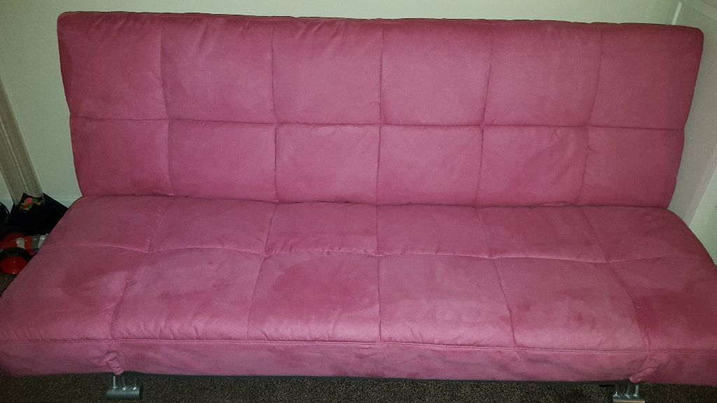 Pink sofa bed for sale 50 in elderslie renfrewshire for Sofa bed pink