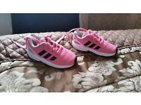 Girls adidas z x flux trainers