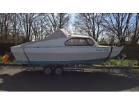 22' sports/fishing cabin cruiser boat project