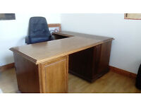 Great quality large office desk and computer chair for sale, Ideal for home office or bussiness.