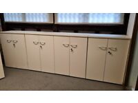 6 Low office cupboards/cabinets/Storage units