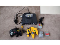 Nintendo n64 and accessories