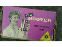 Box for vintage Hoover steam iron