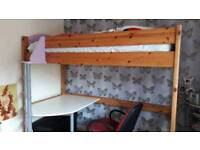 Children's High Sleeper with built in desk from Ikea.