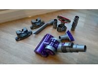 *** Dyson Mini Turbine Head + accessories bundle, crevice tool, upholstery tool ****