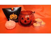 Halloween pumpkin candle set